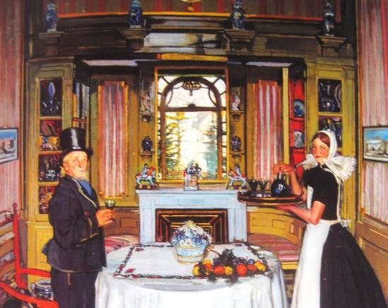 Detail of an interior by Antonio Ortiz Echagüe (1883 - 1942)
