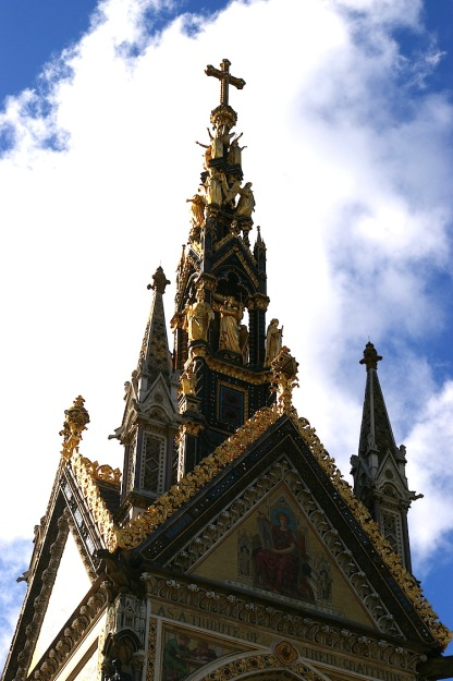 albert memorial detail gothic revival restored
