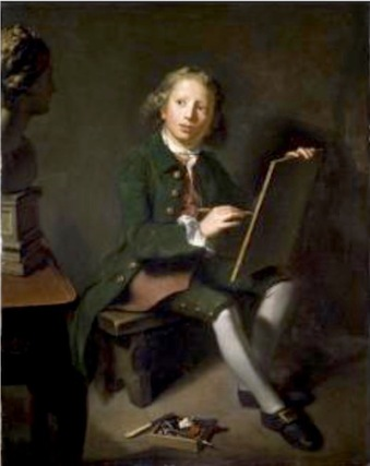 Portrait of a Boy Artist - Nathaniel Hone (1718-1784)
